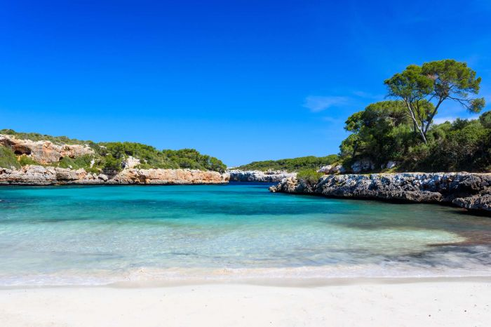 Cala Sa Nau - beautiful bay and beach on Mallorca, Spain - Europ